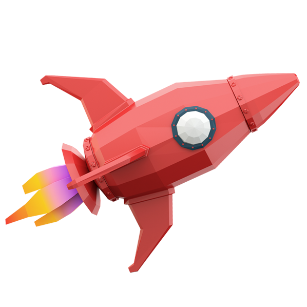 Child's Cartoon Rocket For Network Services - Dynamic Networks Group